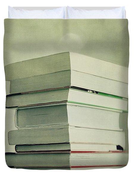 Piled Reading Matter Duvet Cover