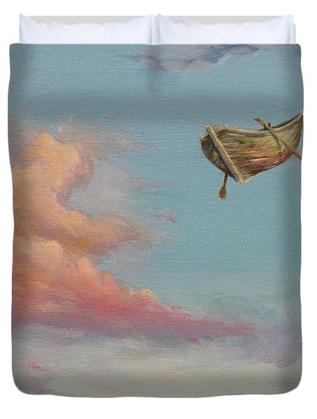 Duvet Cover featuring the painting Pilgrim Soul by James Andrews