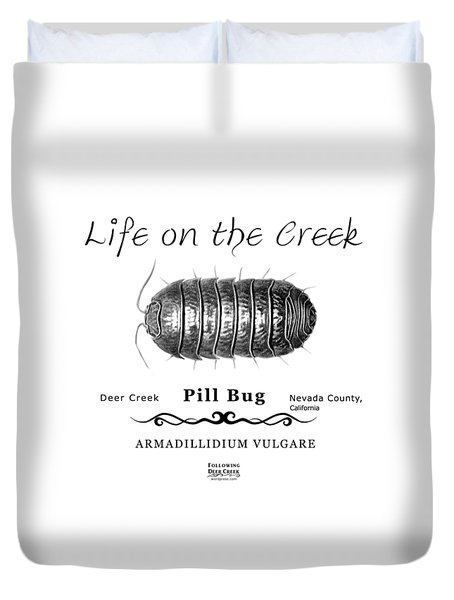 Pill Bug Armadillidium Vulgare Duvet Cover