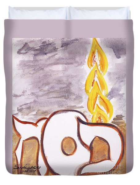 Pillar Of Fire Duvet Cover