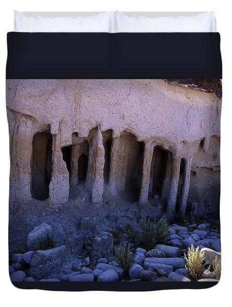 Pillars And Caves, Crowley Lake Duvet Cover