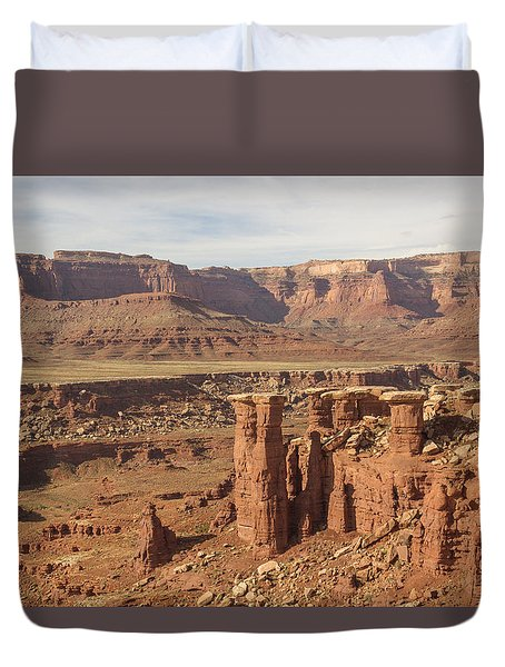 Pillars In Canyonlands Duvet Cover