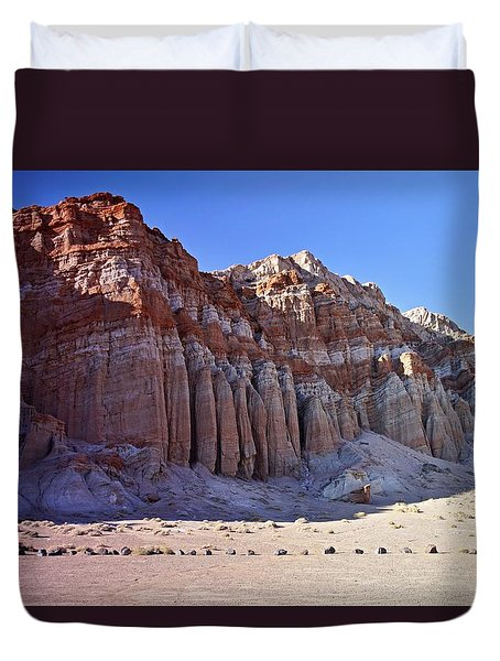 Pillars, Red Rock Canyon State Park Duvet Cover