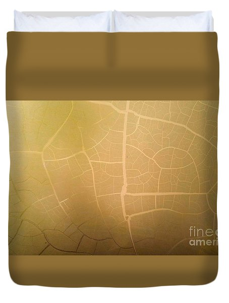 Pillow Pattern Amber Leaf/crackle Duvet Cover