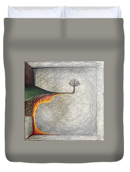 Duvet Cover featuring the mixed media Pillow by Steve  Hester