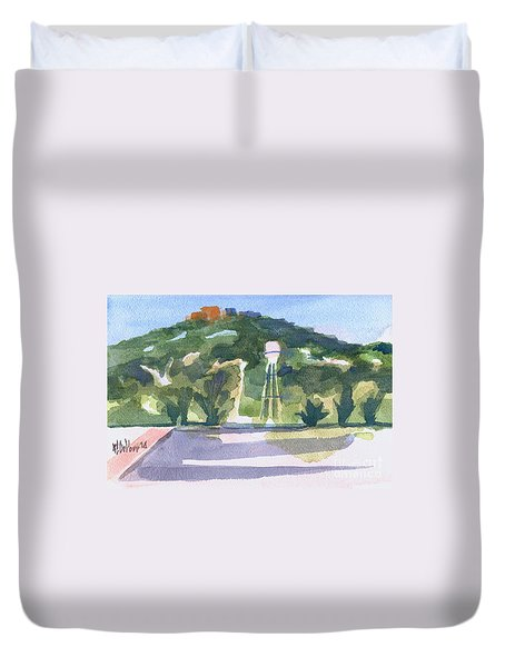 Duvet Cover featuring the painting Pilot Knob Mountain W404 by Kip DeVore