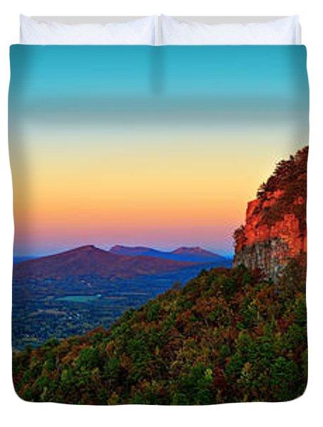 Pilot Mountain  Duvet Cover