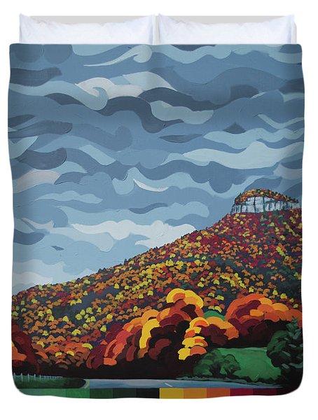 Pilot Mountain Fall Duvet Cover