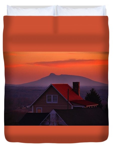 Pilot Sunset Overlook Duvet Cover
