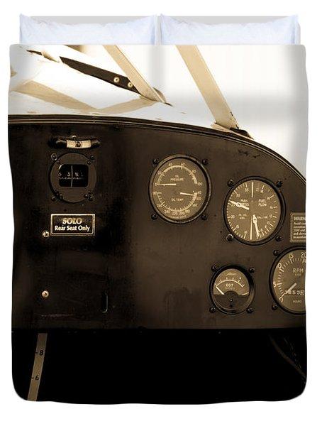 Pilots Cockpit Duvet Cover