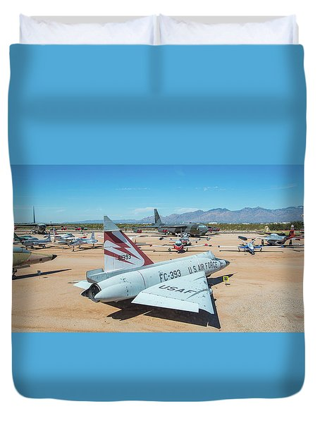 Duvet Cover featuring the photograph Pima Air And Space Museum by Dan McManus