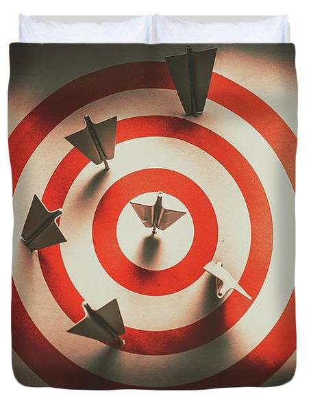 Pin Point Your Target Audience Duvet Cover