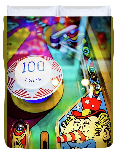 Pinball Art - Clown Duvet Cover