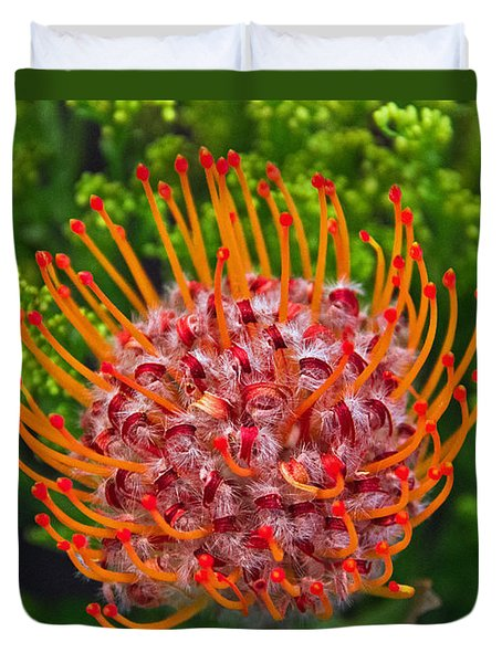 Pincushion Flower Duvet Cover