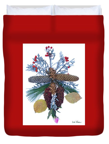 Pine Cone Bouquet Duvet Cover by Lise Winne