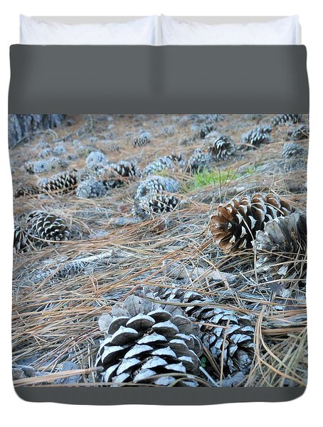 Pine Cones Duvet Cover by Kay Gilley