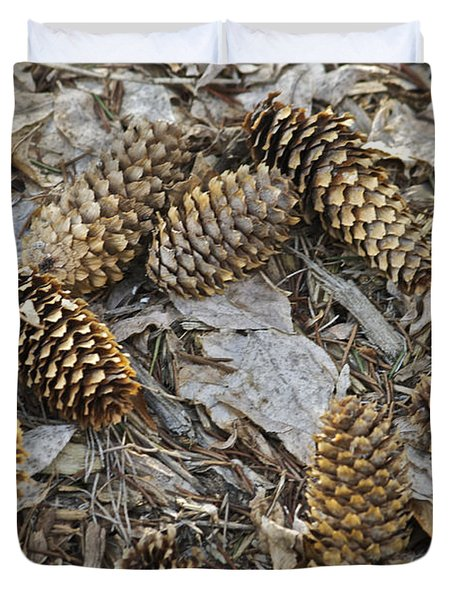 Pine Cones Duvet Cover by Michael Peychich