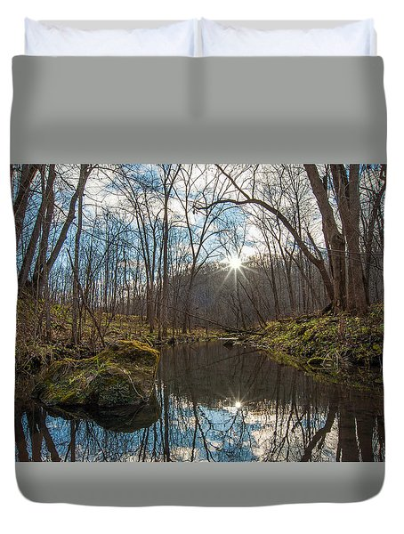 Duvet Cover featuring the photograph Pine Creek by Dan Traun