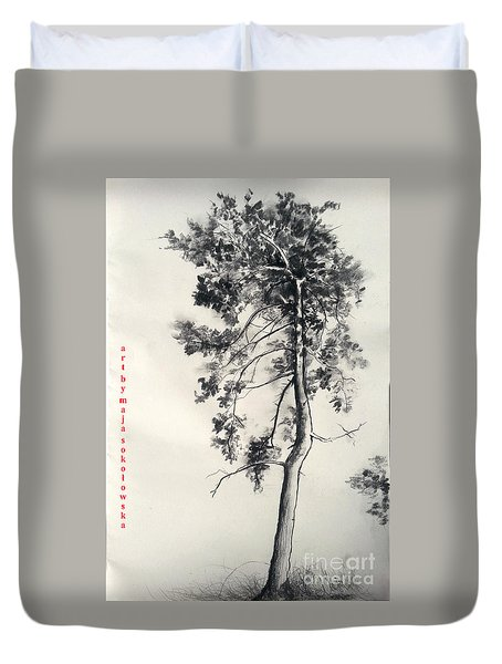 Pine Drawing Duvet Cover