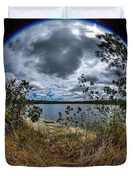 Pine Glades Lake 18 Duvet Cover
