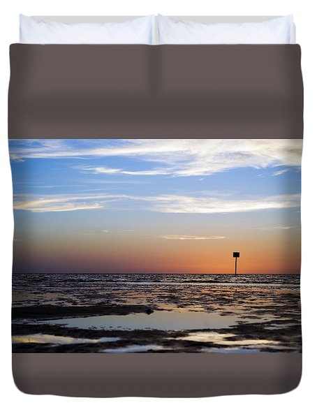 Pine Island Sunset Duvet Cover