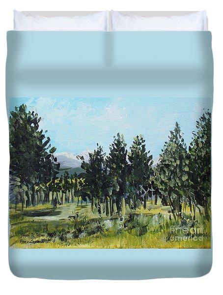 Pine Landscape No. 4 Duvet Cover