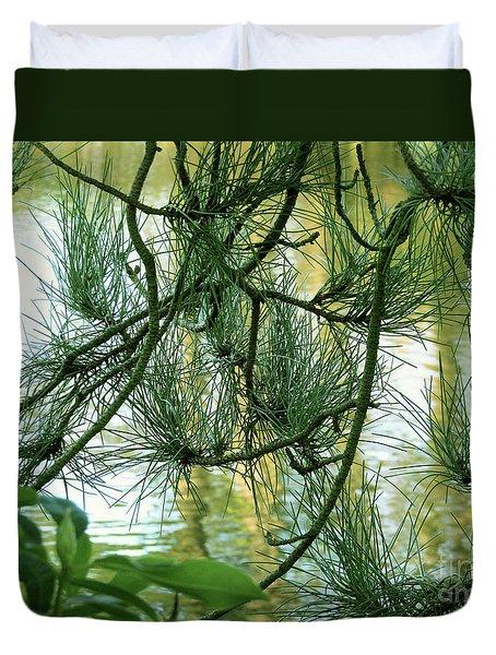 Pine Needles Patchwork Duvet Cover