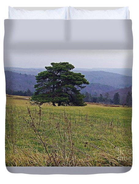 Duvet Cover featuring the photograph Pine On Sentry by Christian Mattison