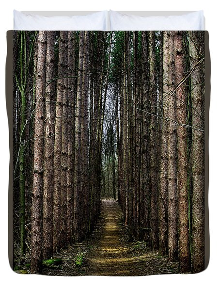 Pine Path  Duvet Cover