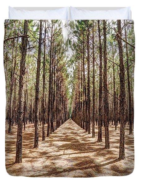 Pine Plantation Wide Color Duvet Cover