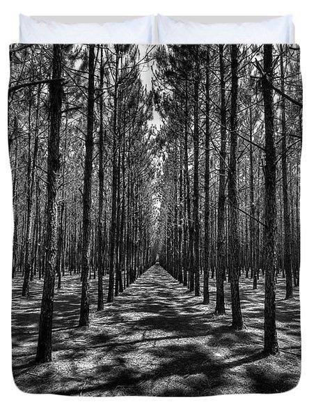 Pine Plantation Wide Duvet Cover