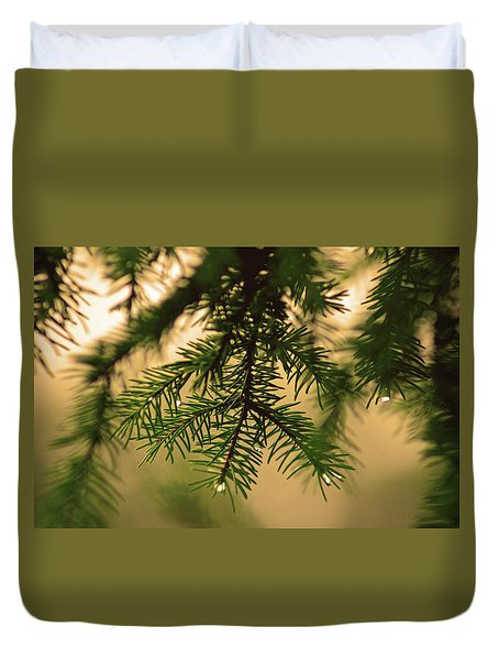 Duvet Cover featuring the photograph Pine by Robert Geary