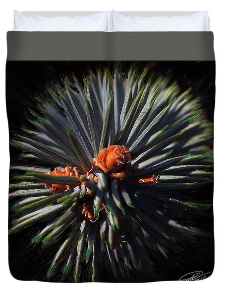 Pine Rose Duvet Cover