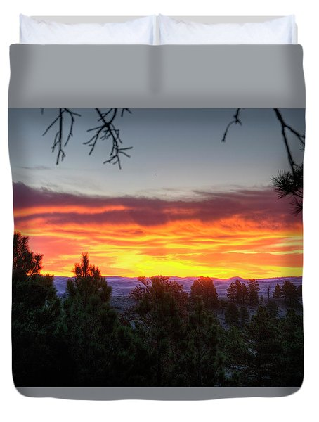 Pine Sunrise Duvet Cover