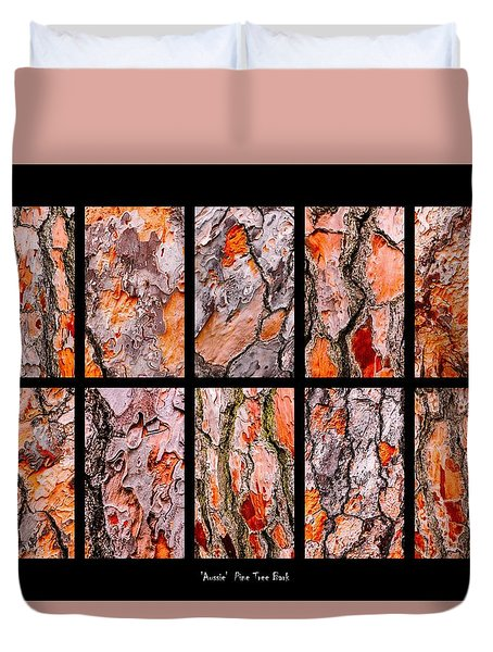 Pine Tree Bark Textures Duvet Cover