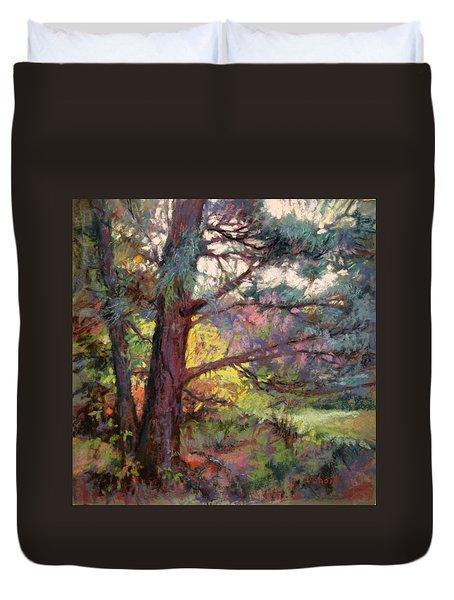 Pine Tree Dance Duvet Cover by Donna Shortt