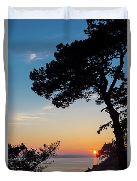 Pine Tree Duvet Cover by Delphimages Photo Creations