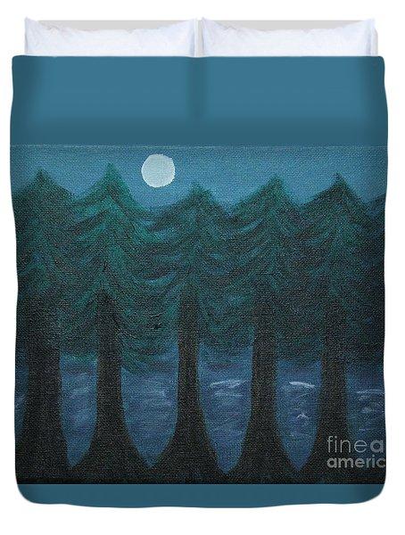 Pine Tree Lake Duvet Cover