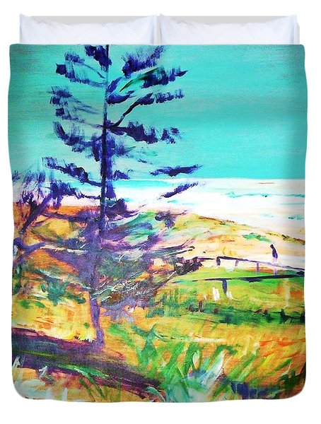 Pine Tree Pandanus Duvet Cover