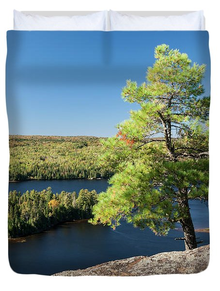 Pine Tree With A View Duvet Cover