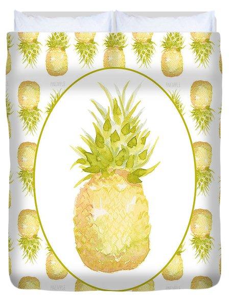Pineapple Cameo Duvet Cover