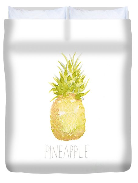 Pineapple Duvet Cover by Cindy Garber Iverson