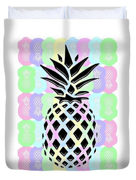 Pineapple Collage Duvet Cover by Liesl Marelli