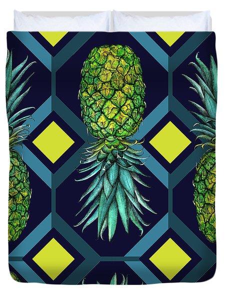 Pineapple Geometric Tile Duvet Cover
