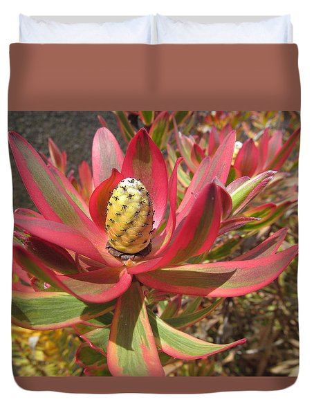 Pineapple King Flower Duvet Cover by Tina M Wenger