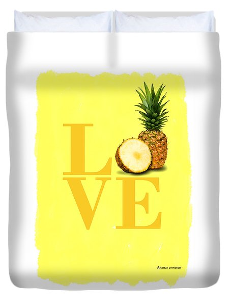Pineapple Duvet Cover by Mark Rogan