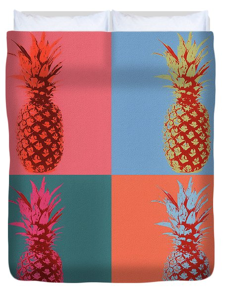 Pineapple Pop Art Duvet Cover