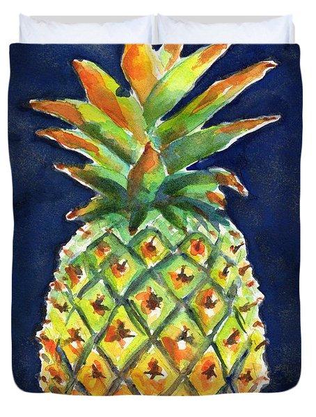 Pineapple Ripe Watercolor Duvet Cover