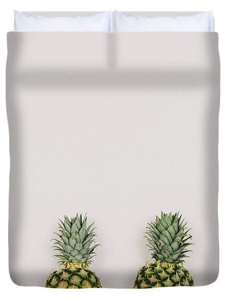 Pineapples Duvet Cover by Happy Home Artistry