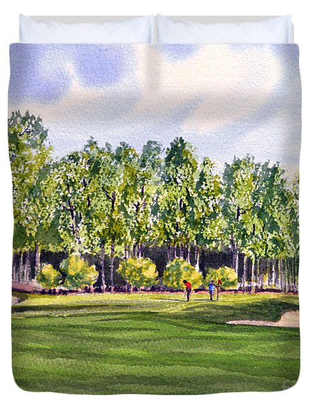 Pinehurst Golf Course 17th Hole Duvet Cover